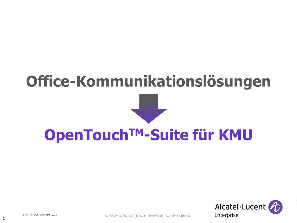 Office-Kommunikationslösungen OpenTouchTM-Suite für KMU