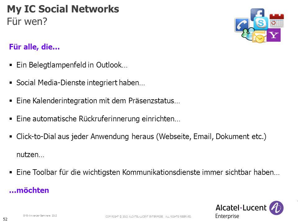 My IC Social Networks Für wen Für alle, die…