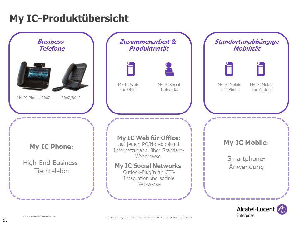 My IC-Produktübersicht