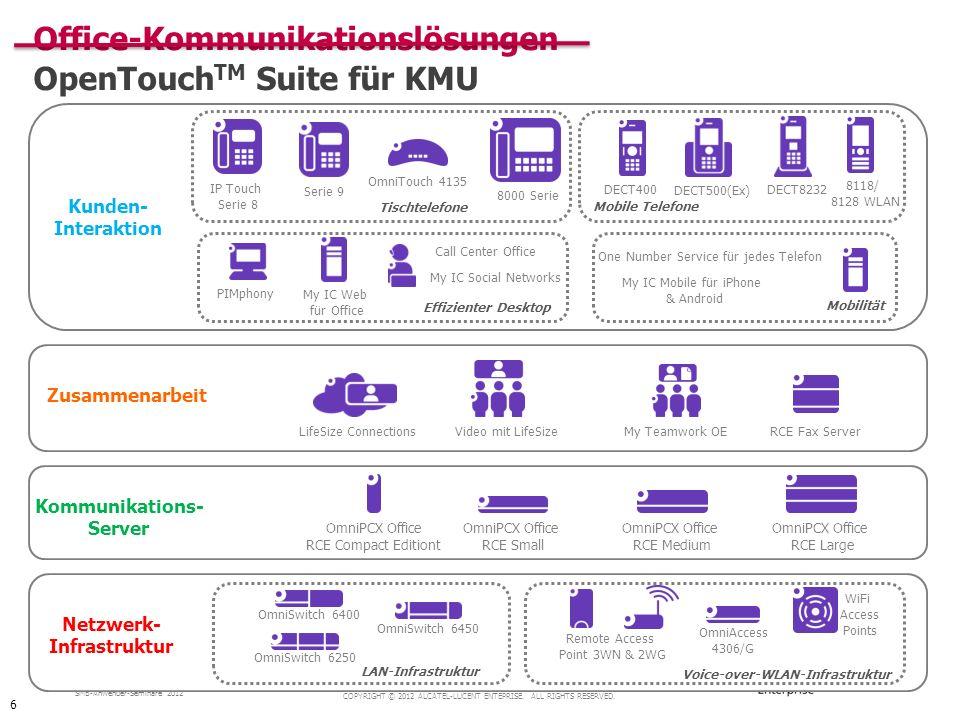 Office-Kommunikationslösungen OpenTouchTM Suite für KMU