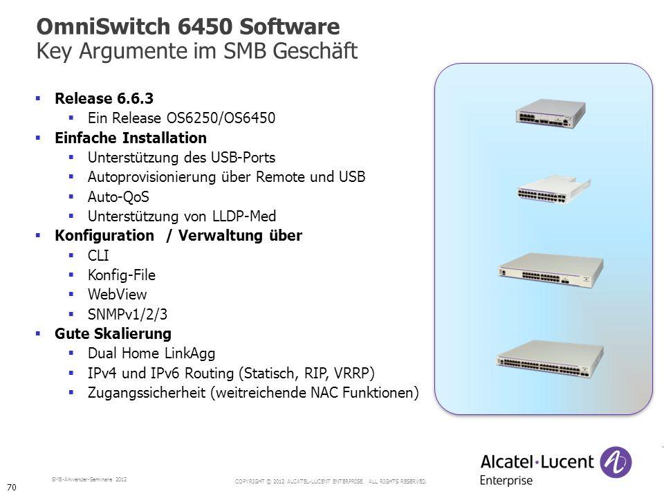 OmniSwitch 6450 Software Key Argumente im SMB Geschäft