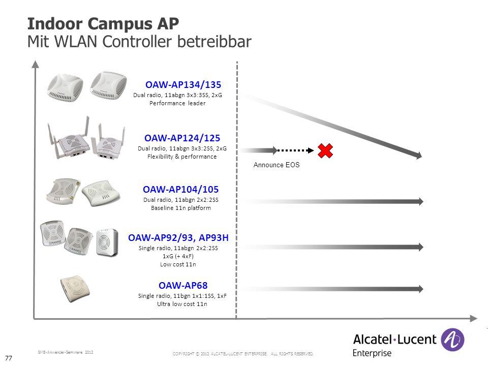 Indoor Campus AP Mit WLAN Controller betreibbar