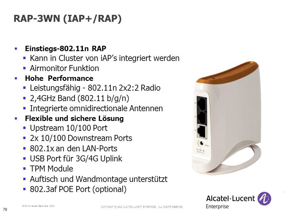 RAP-3WN (IAP+/RAP) Kann in Cluster von iAP's integriert werden