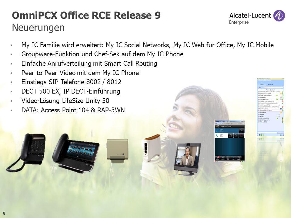 OmniPCX Office RCE Release 9 Neuerungen