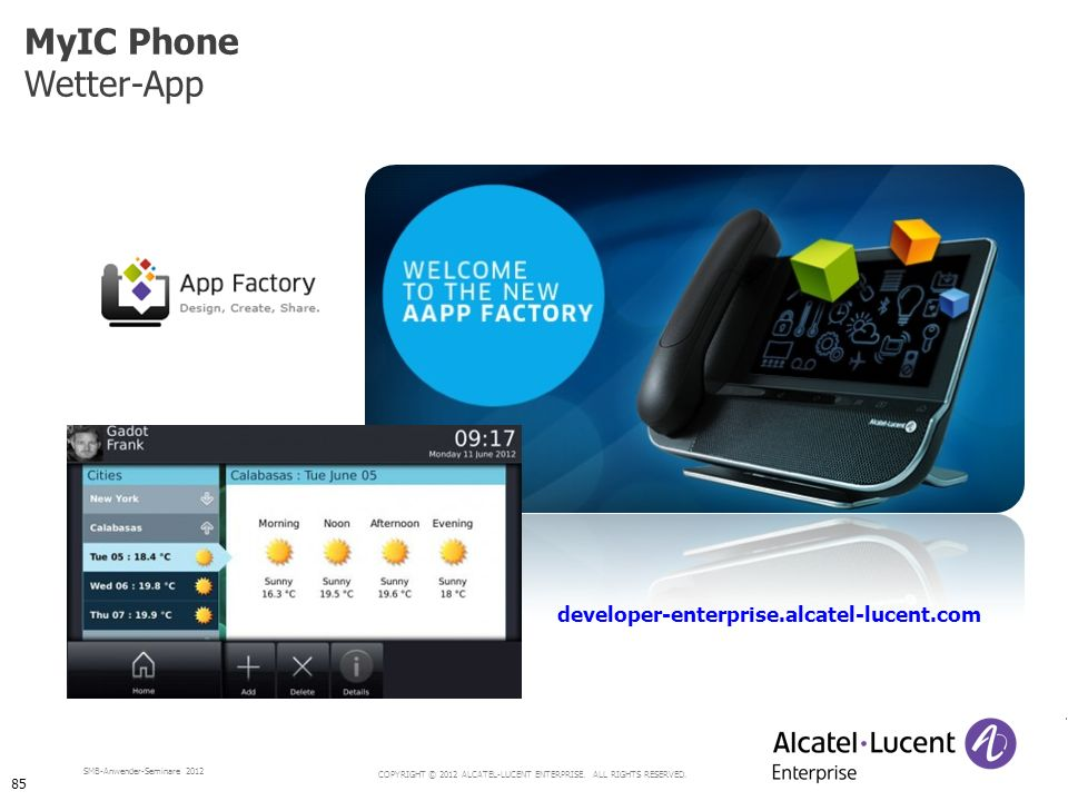 MyIC Phone Wetter-App developer-enterprise.alcatel-lucent.com 85