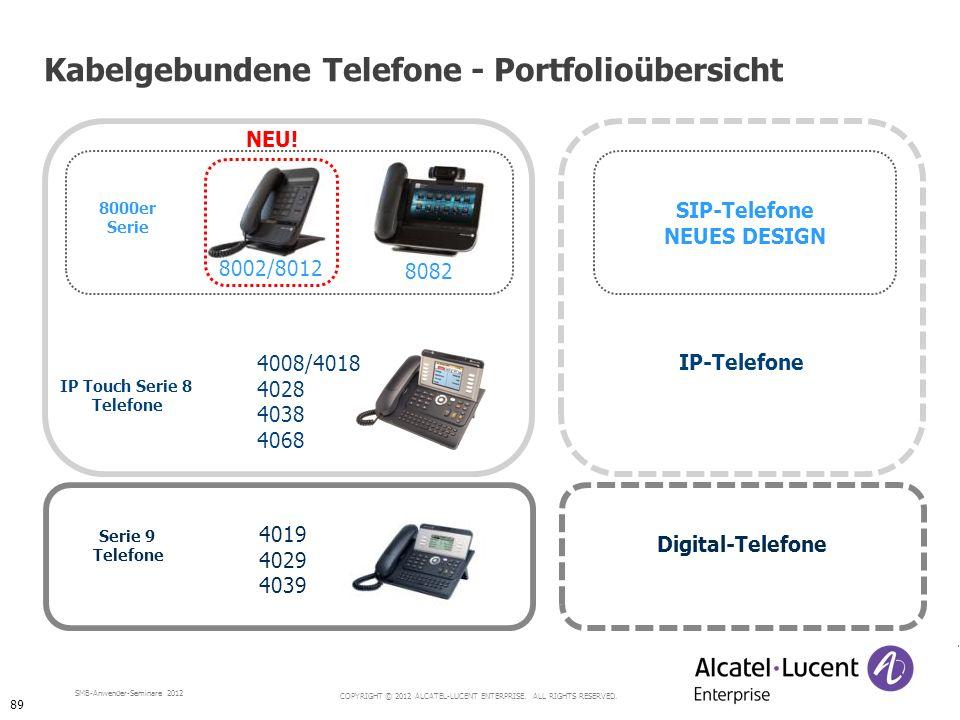 Kabelgebundene Telefone - Portfolioübersicht
