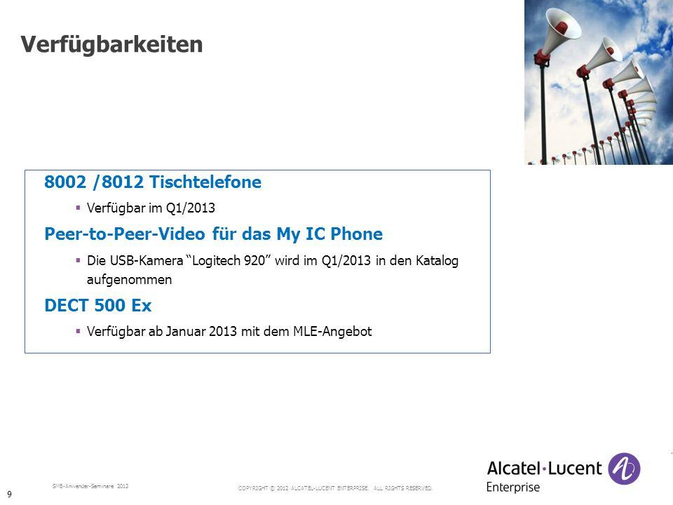 Verfügbarkeiten 8002 /8012 Tischtelefone