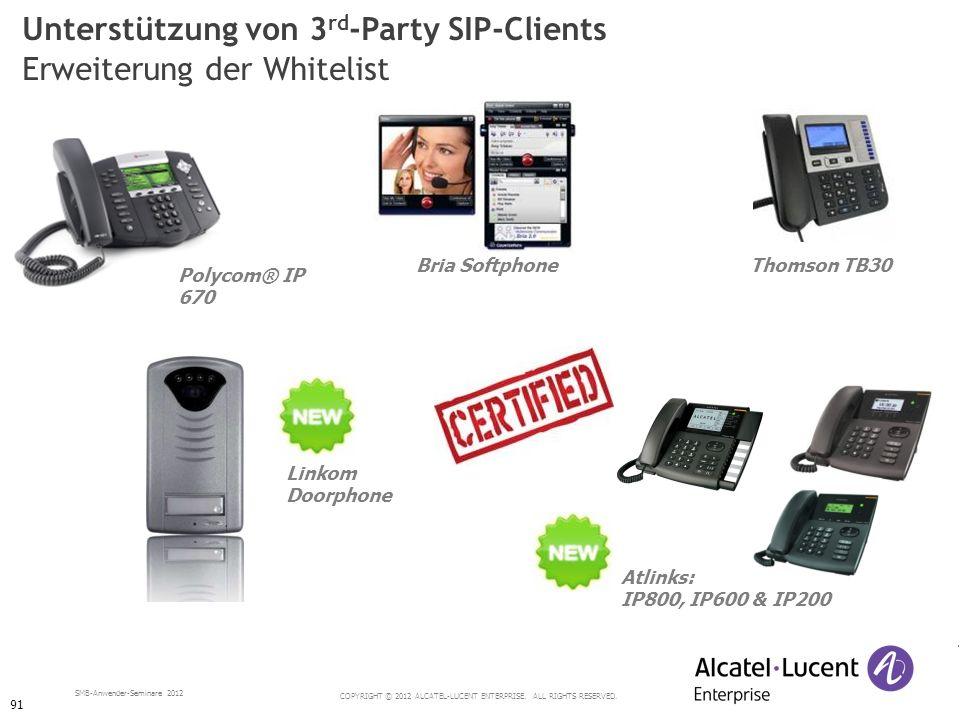 Unterstützung von 3rd-Party SIP-Clients Erweiterung der Whitelist