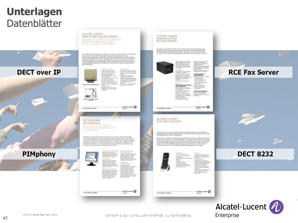 Unterlagen Datenblätter DECT over IP RCE Fax Server PIMphony DECT 8232