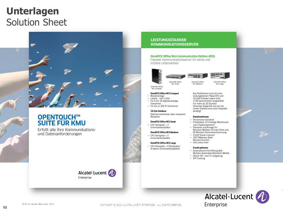 Unterlagen Solution Sheet 98