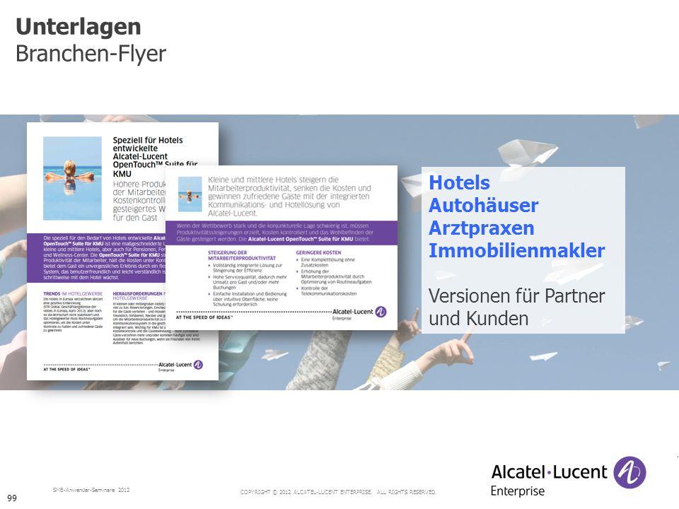 Unterlagen Branchen-Flyer Hotels Autohäuser Arztpraxen