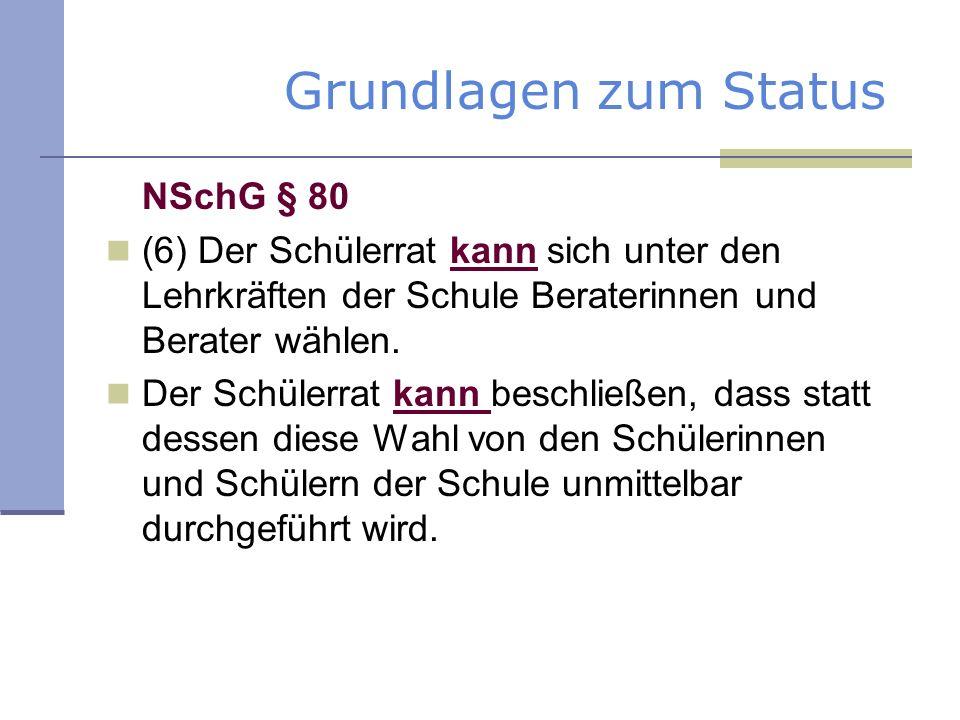 Grundlagen zum Status NSchG § 80