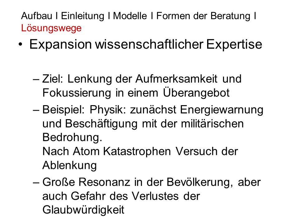 Expansion wissenschaftlicher Expertise