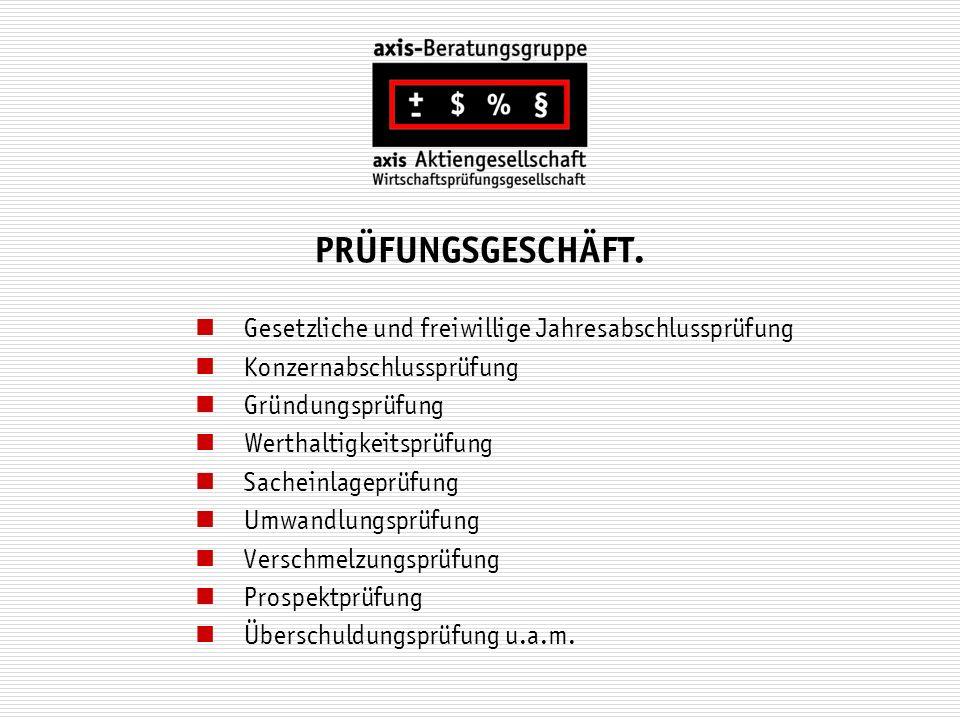 PRÜFUNGSGESCHÄFT. Gesetzliche und freiwillige Jahresabschlussprüfung