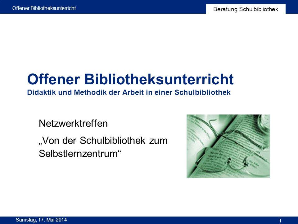 """Netzwerktreffen """"Von der Schulbibliothek zum Selbstlernzentrum"""