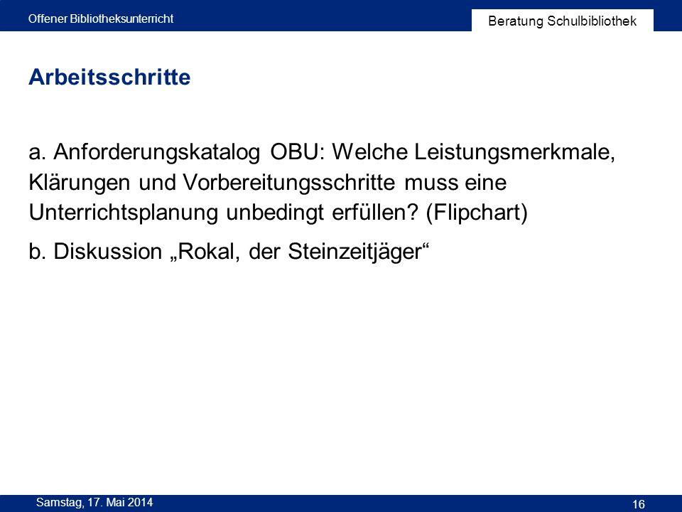 """b. Diskussion """"Rokal, der Steinzeitjäger"""