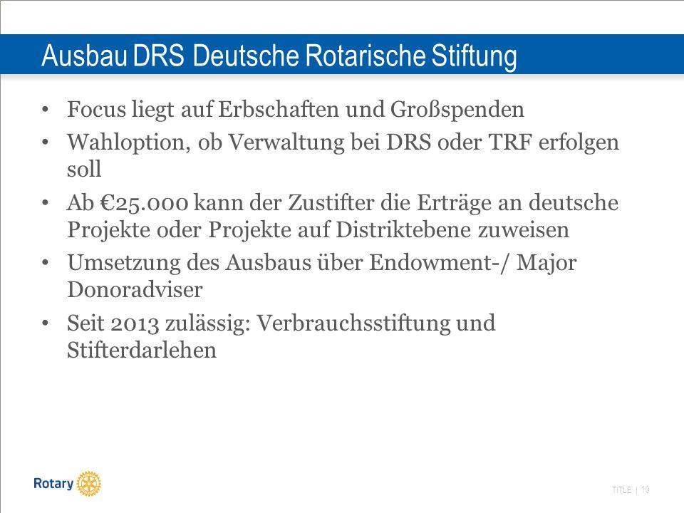 Ausbau DRS Deutsche Rotarische Stiftung