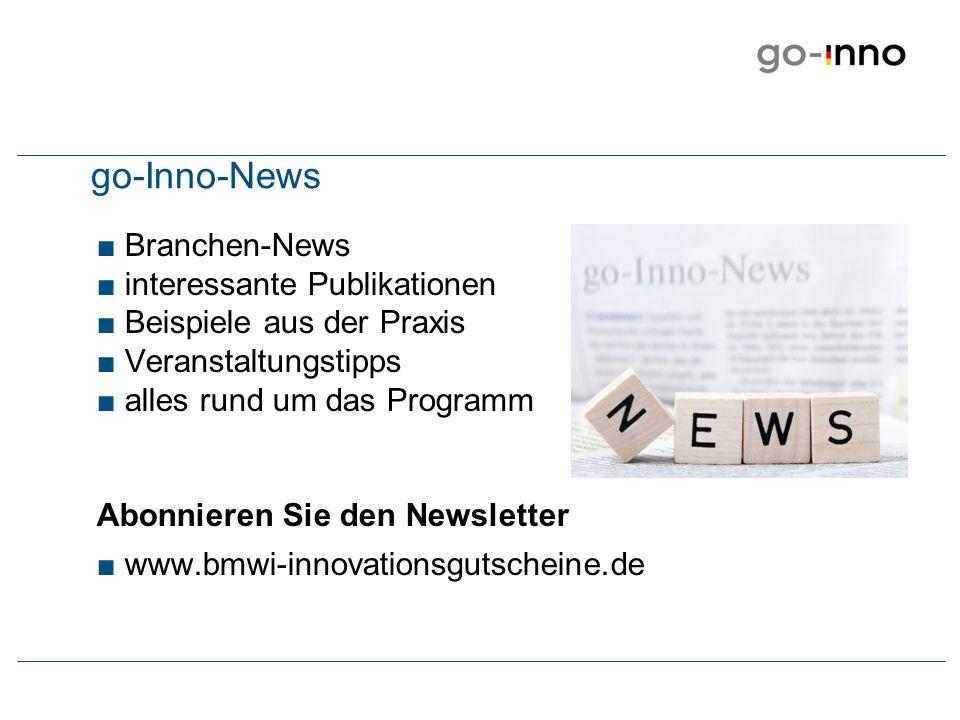 go-Inno-News Branchen-News interessante Publikationen