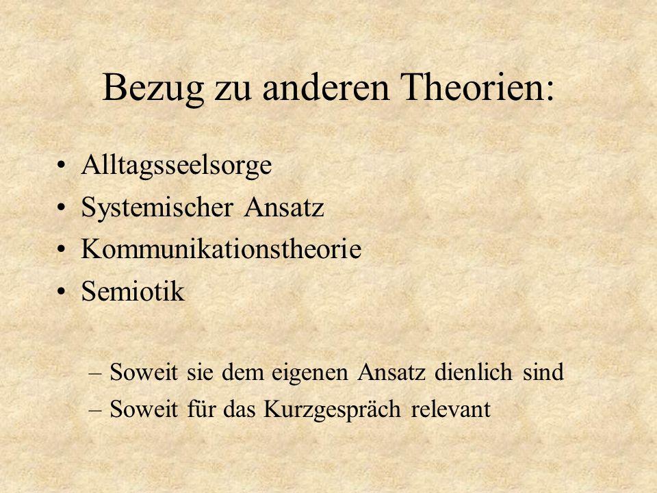 Bezug zu anderen Theorien: