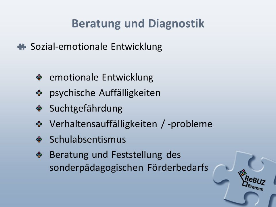 Beratung und Diagnostik