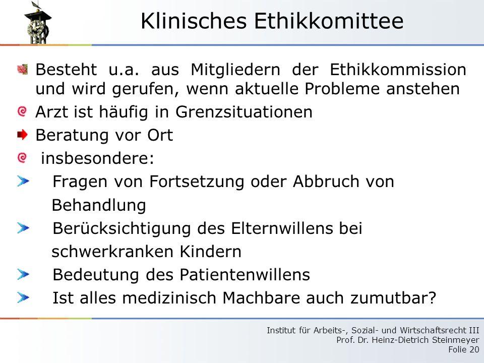 Klinisches Ethikkomittee