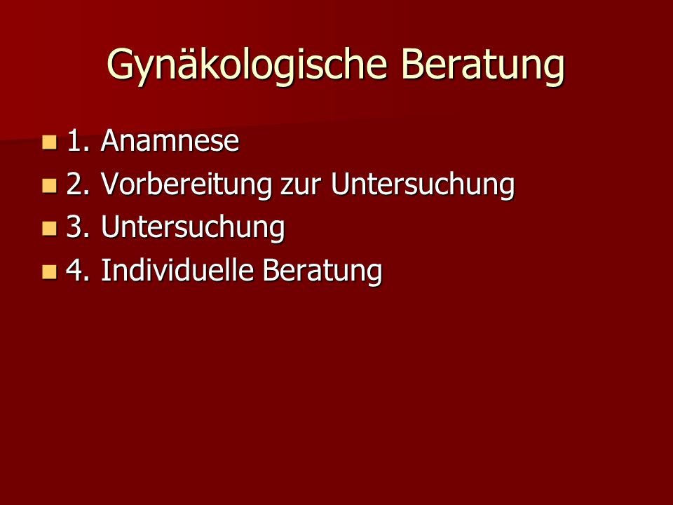 Gynäkologische Beratung