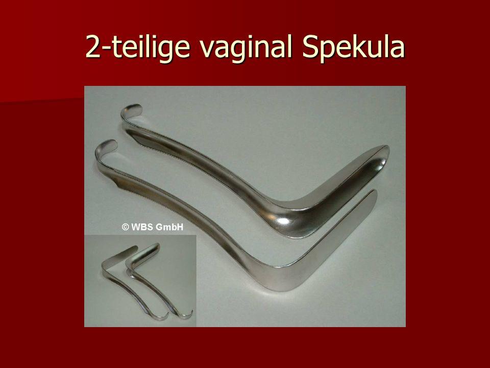 2-teilige vaginal Spekula