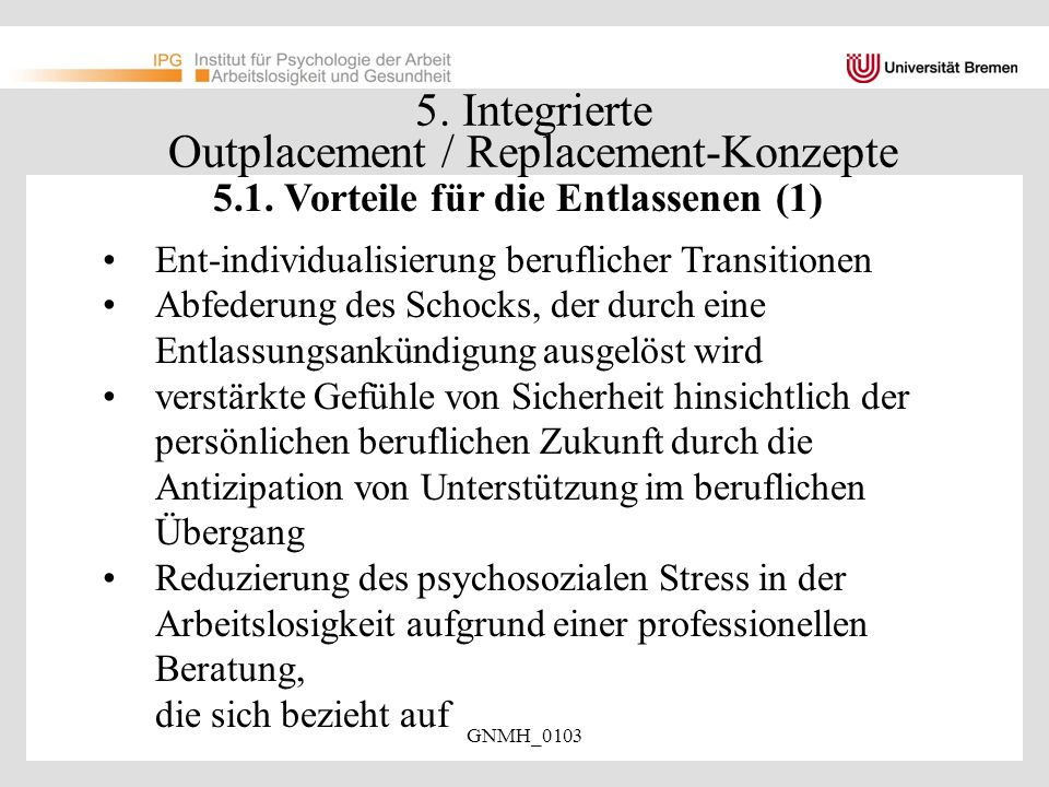 5. Integrierte Outplacement / Replacement-Konzepte