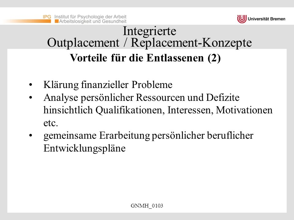 Integrierte Outplacement / Replacement-Konzepte