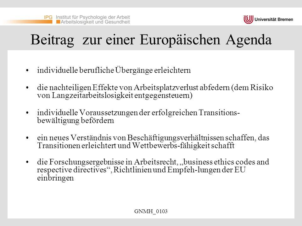 Beitrag zur einer Europäischen Agenda