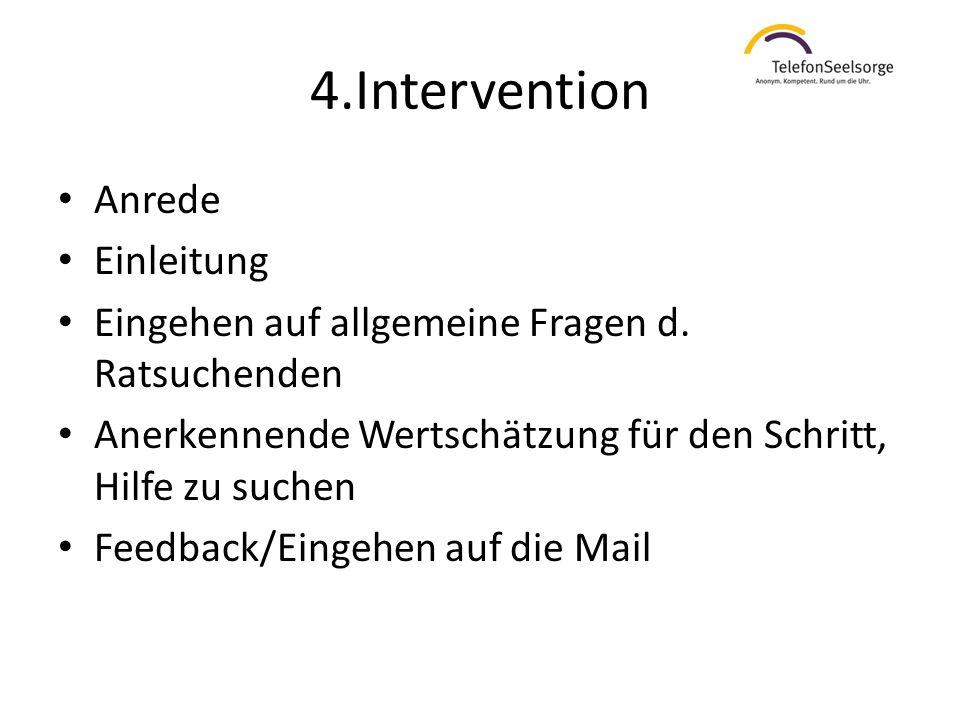 4.Intervention Anrede Einleitung