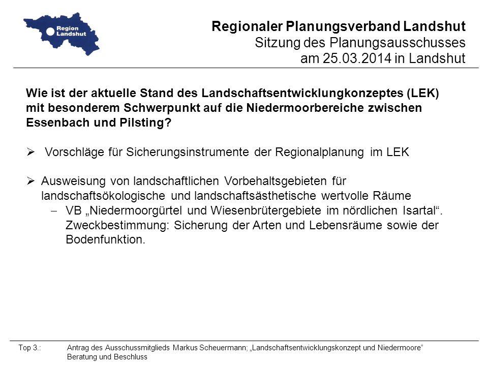 Vorschläge für Sicherungsinstrumente der Regionalplanung im LEK