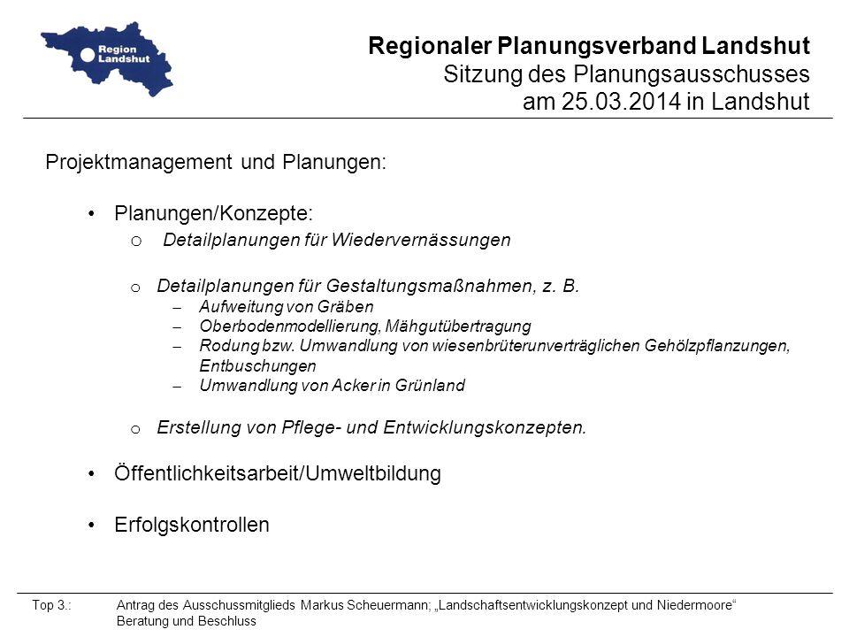 Projektmanagement und Planungen: Planungen/Konzepte: