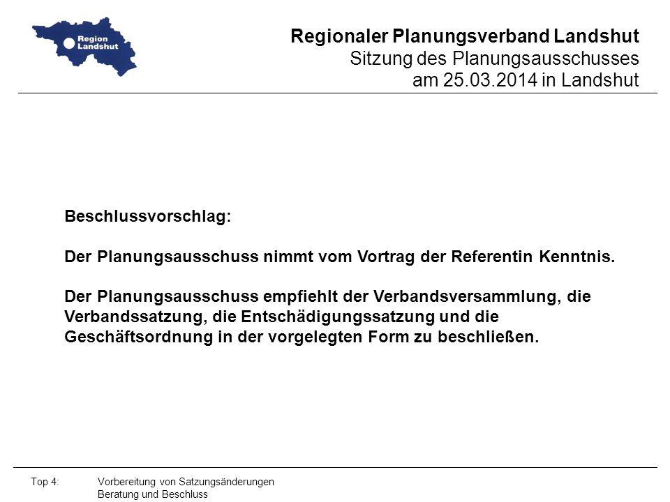 Der Planungsausschuss nimmt vom Vortrag der Referentin Kenntnis.
