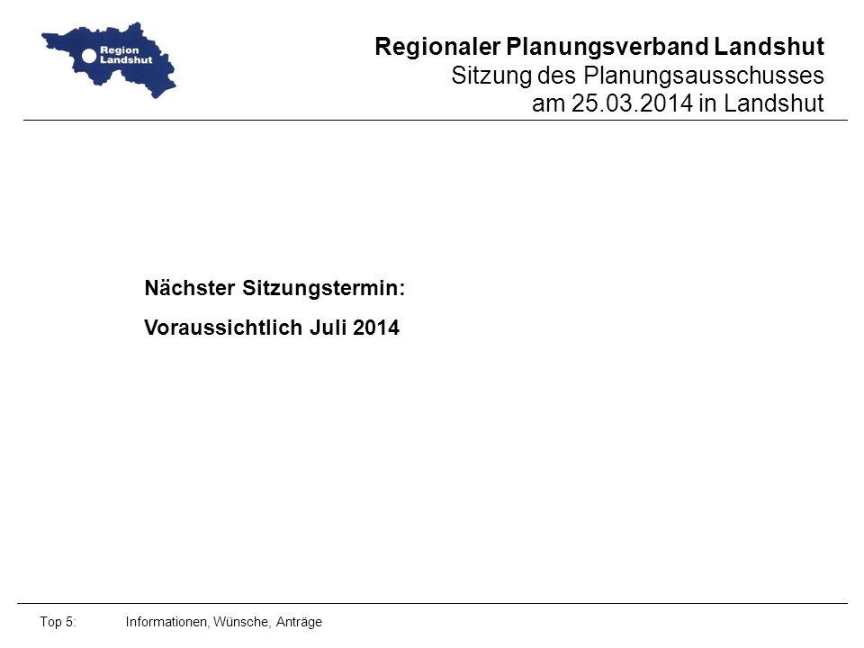 Nächster Sitzungstermin: Voraussichtlich Juli 2014