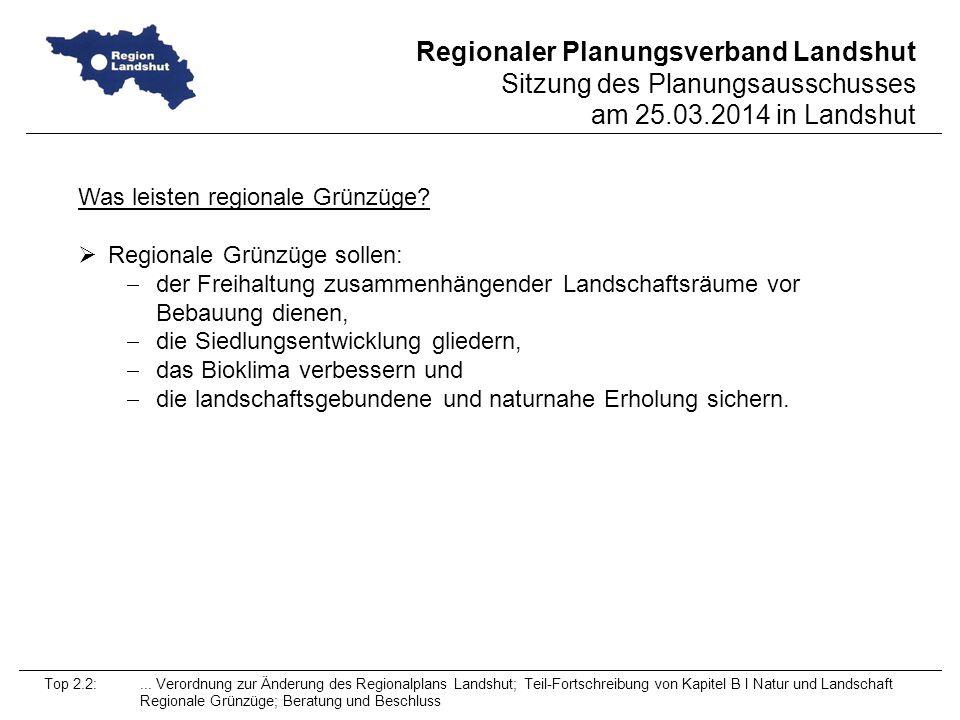 Was leisten regionale Grünzüge Regionale Grünzüge sollen: