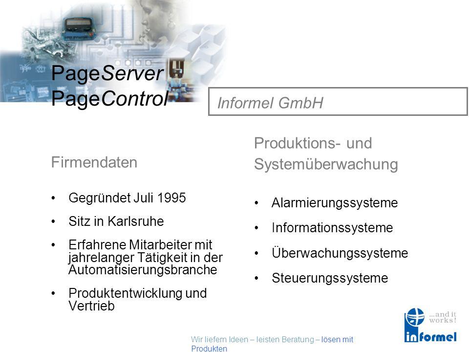 Informel GmbH Produktions- und Systemüberwachung Firmendaten