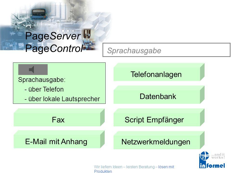 Sprachausgabe Sprachausgabe Telefonanlagen SMS Datenbank Fax