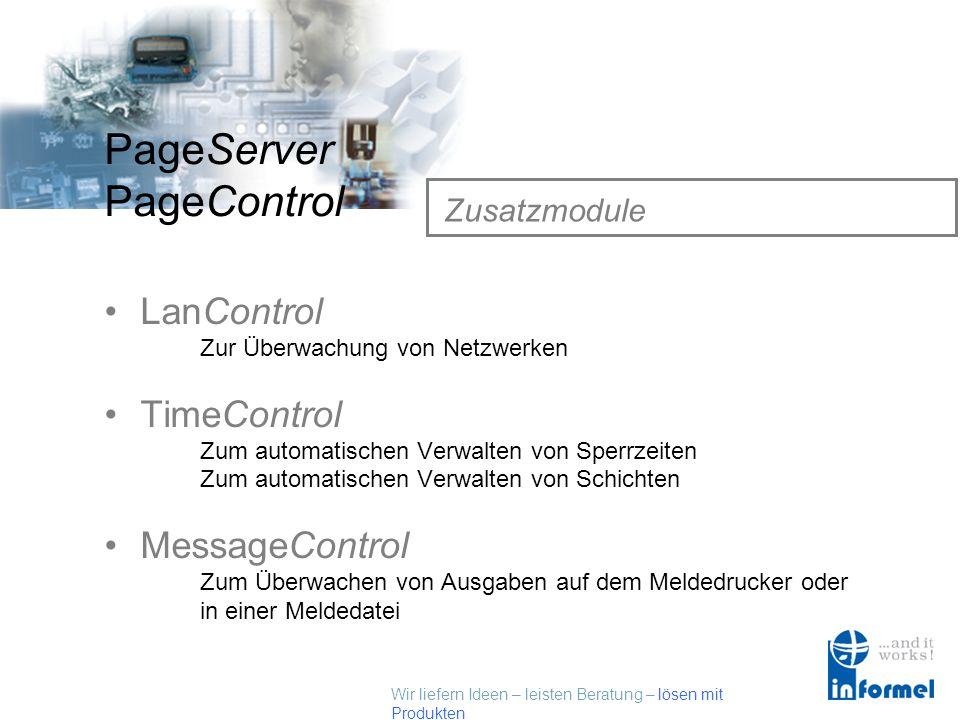 LanControl TimeControl MessageControl Zusatzmodule