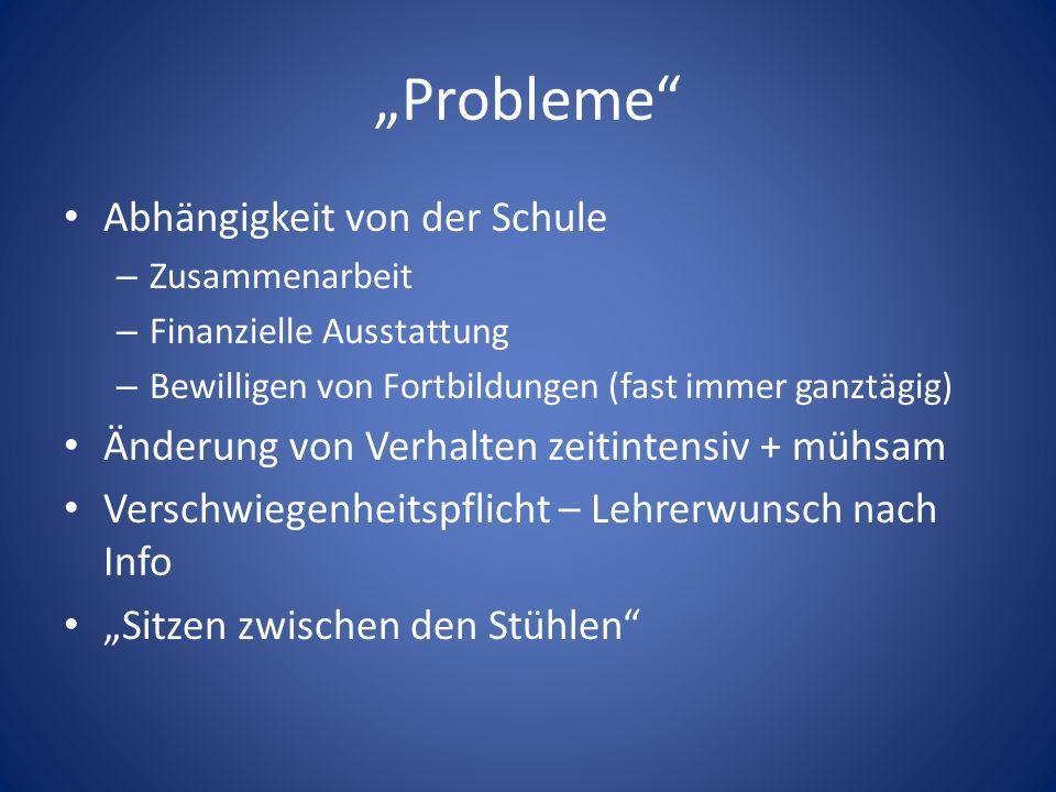 """""""Probleme Abhängigkeit von der Schule"""