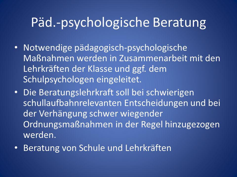 Päd.-psychologische Beratung