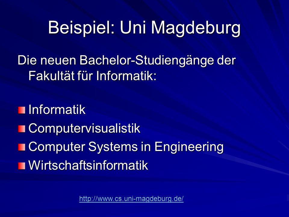 Beispiel: Uni Magdeburg