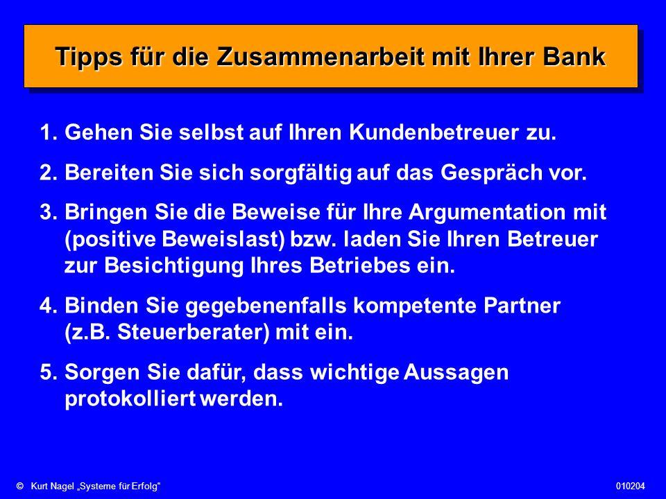 Tipps für die Zusammenarbeit mit Ihrer Bank