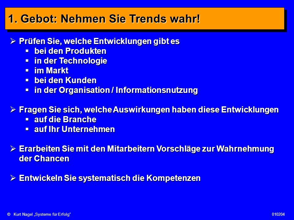 1. Gebot: Nehmen Sie Trends wahr!