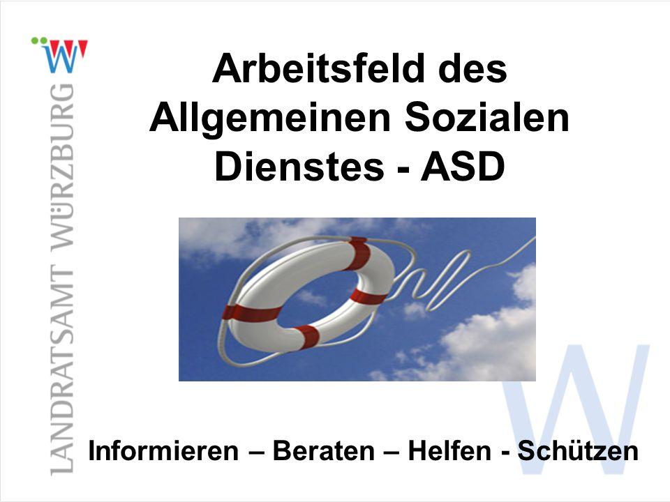 Arbeitsfeld des Allgemeinen Sozialen Dienstes - ASD
