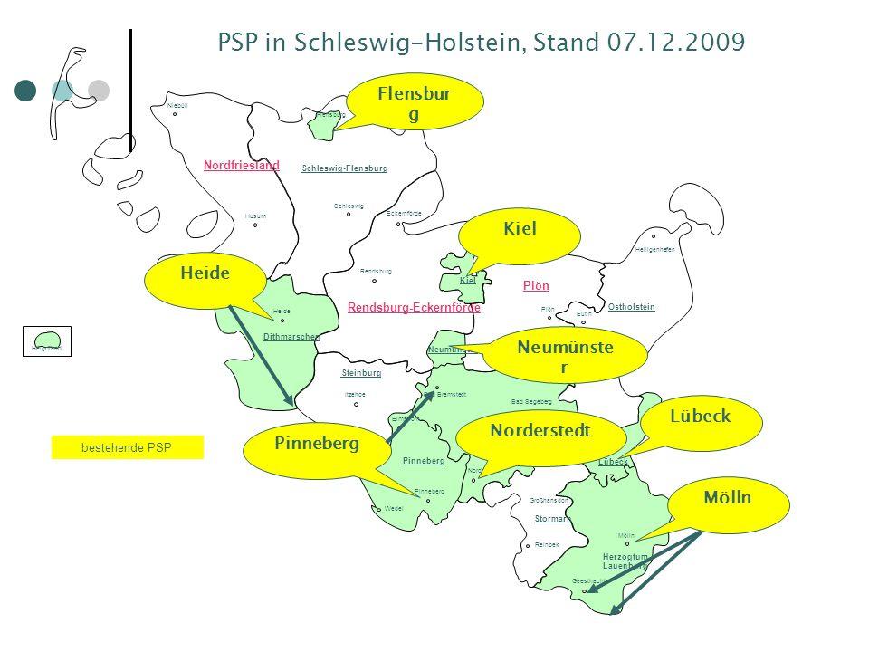 PSP in Schleswig-Holstein, Stand 07.12.2009