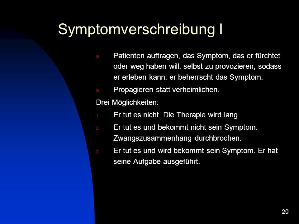 Symptomverschreibung I