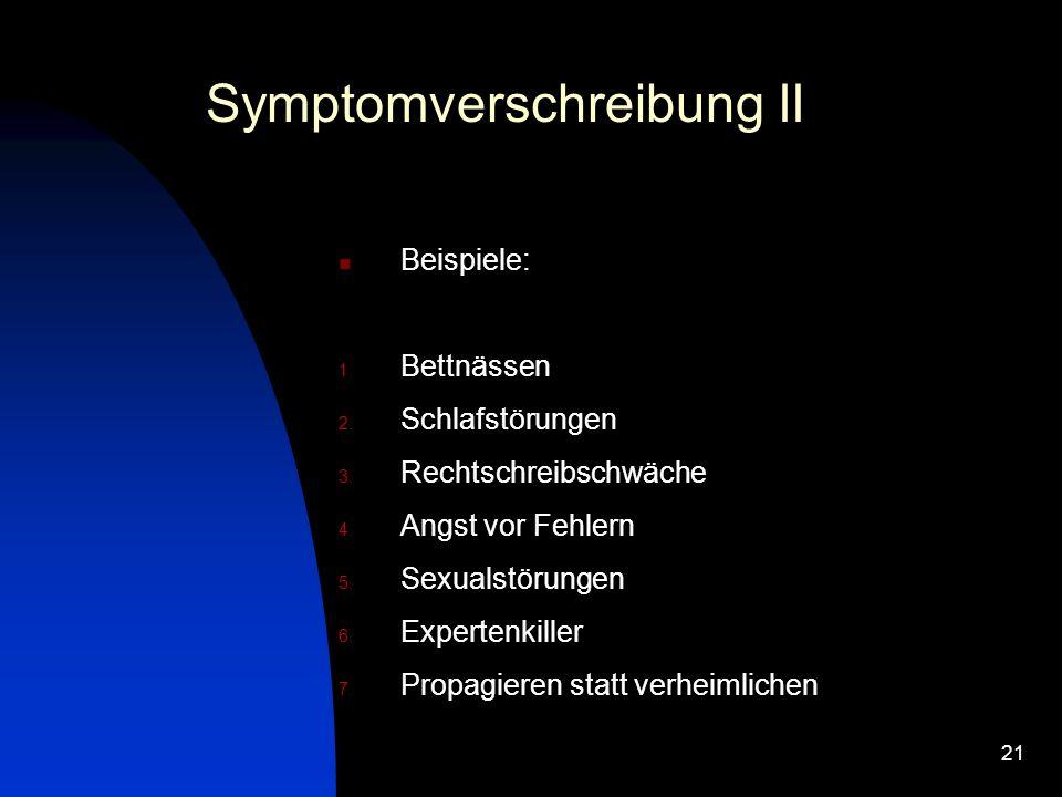 Symptomverschreibung II
