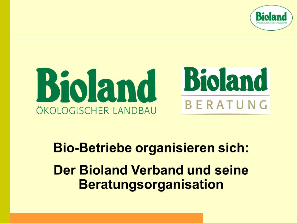 Bio-Betriebe organisieren sich: