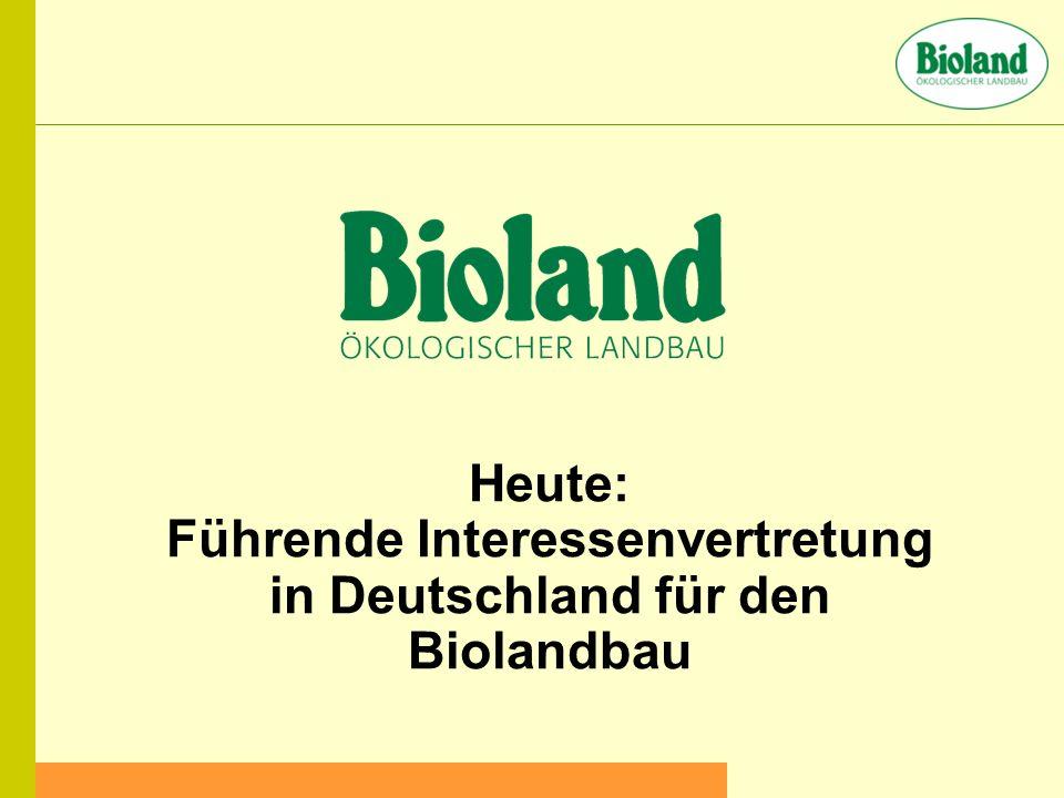 Heute: Führende Interessenvertretung in Deutschland für den Biolandbau